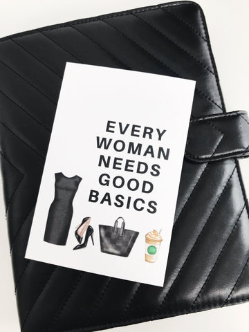 Every Woman Needs Good Basics Planner Card - Planner Press