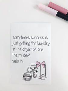Laundry Planner Card - Planner Press