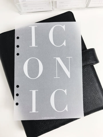 Iconic Planner Dashboards For TN's and Travelers Notebook Ringbound Planner V314 - Planner Press