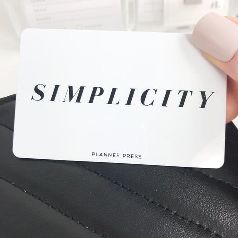 Simplicity Pocket Card PC005 - Planner Press
