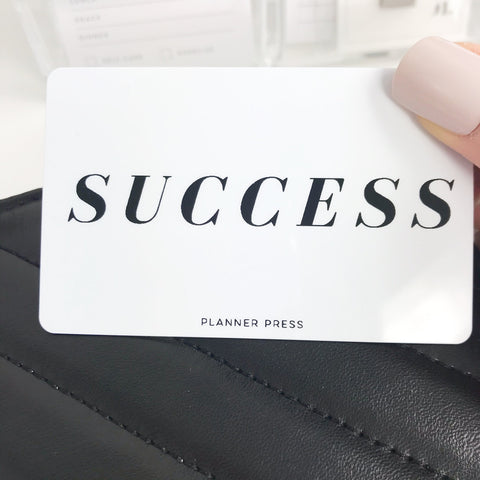 Success Pocket Card PC006 - Planner Press