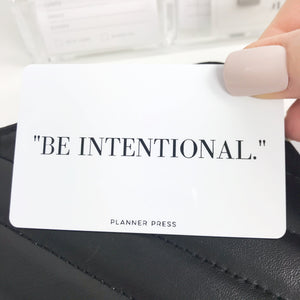 Be Intentional Pocket Card PC0014 - Planner Press