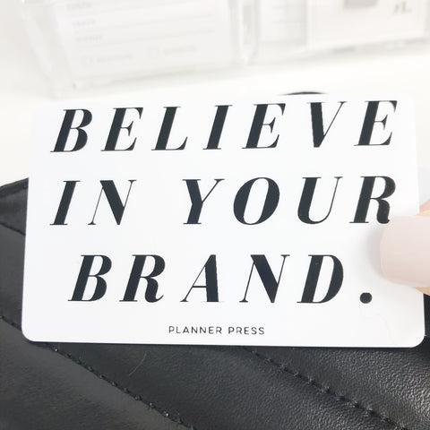 Believe In Your Brand Pocket Card PC0015 - Planner Press