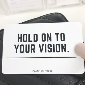 Hold On To Your Vision Pocket Card PC0028 - Planner Press