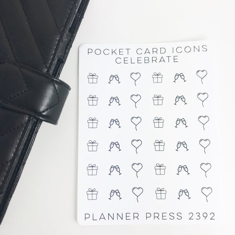Celebrate Icons Sticker Set for PocketCards 2392 - Planner Press