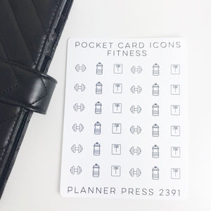 Fitness Icons Sticker Set for PocketCards 2391 - Planner Press