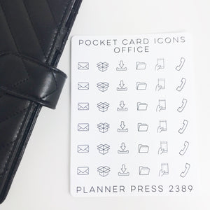 Office Icons Sticker Set for PocketCards 2389 - Planner Press