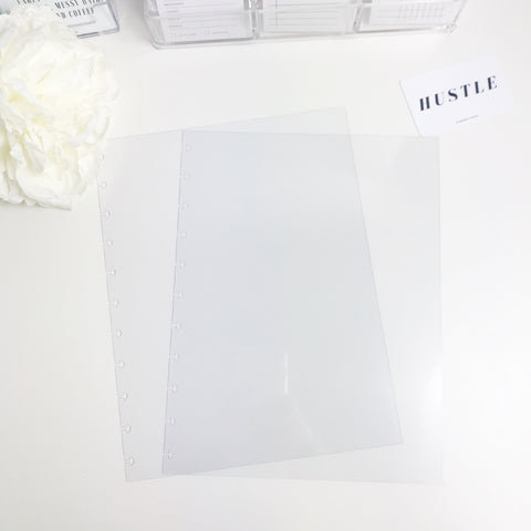 Cover For Happy Planner Big 8.5 x 11 Discbound Planner Crystal Clear and Frosted - Planner Press