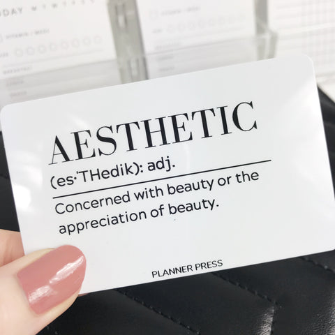 Aesthetic Definition Pocket Card - Planner Press