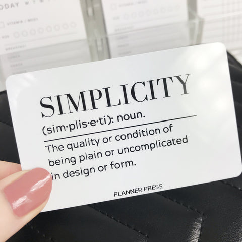 Simplicity Definition Pocket Card - Planner Press