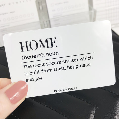 Home Definition Pocket Card - Planner Press