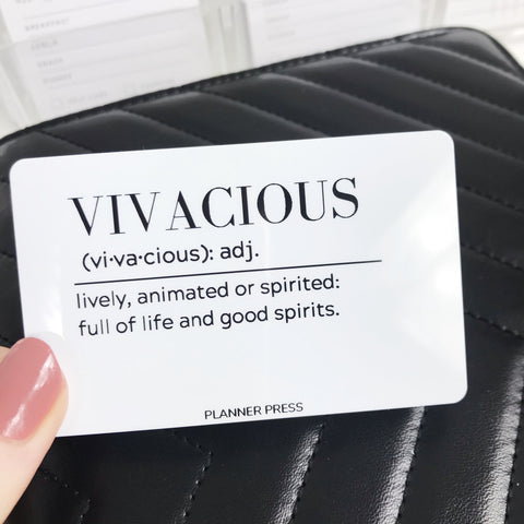 Vivacious Definition Pocket Card - Planner Press