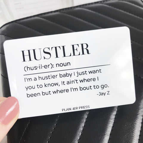 Hustler  Definition Pocket Card - Planner Press