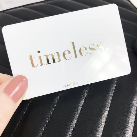 Timeless Gold Foil Pocket Card - Planner Press