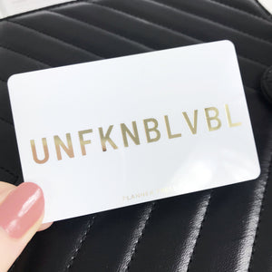 Gold  UNFUKNBLVBL Foil Pocket Card - Planner Press