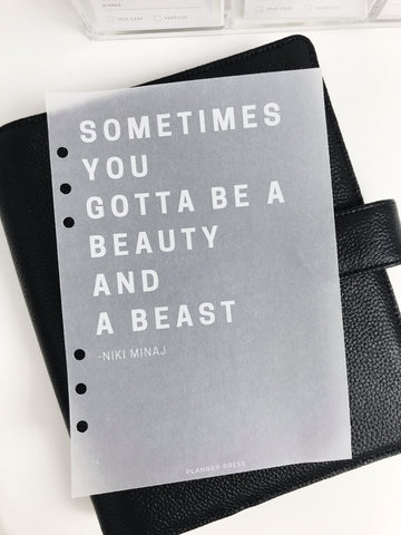 Beauty And Beast Quote Planner Dashboards For TN's and Travelers Notebook Ringbound Planner V308 - Planner Press