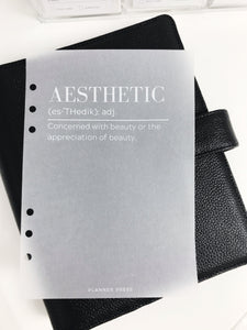 Aesthetic Definition Planner Dashboards For TN's and Travelers Notebook Ringbound Planner V316 - Planner Press