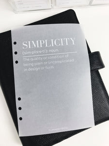 Simplicity Definition Planner Dashboards For TN's and Travelers Notebook Ringbound Planner V317 - Planner Press