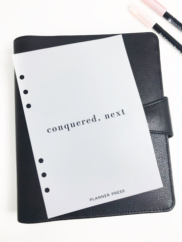 Conquered, Next Planner Dashboards For TN's and Travelers Notebook Ringbound Planner V325 - Planner Press