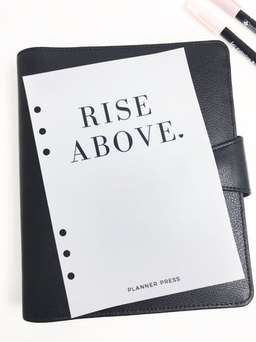 Rise Above Planner Dashboards For TN's and Travelers Notebook Ringbound Planner V326 - Planner Press
