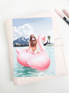 Flamingo Floatie Planner Dashboards For TN's and Travelers Notebook Ringbound Planner V319 - Planner Press
