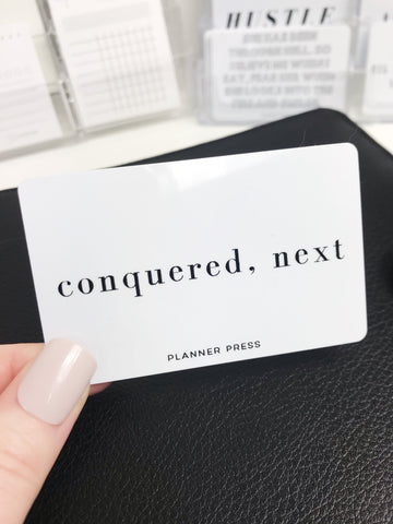 Conquered, Next Pocket Card - Planner Press