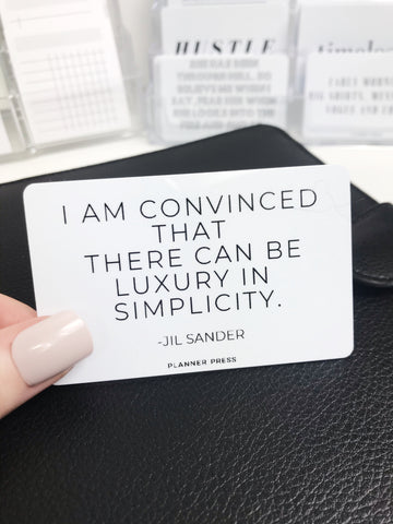Luxury In Simplicity Pocket Card - Planner Press