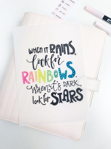 Rainbows Planner Dashboards For TN's and Travelers Notebook Ringbound Planner V358 - Planner Press