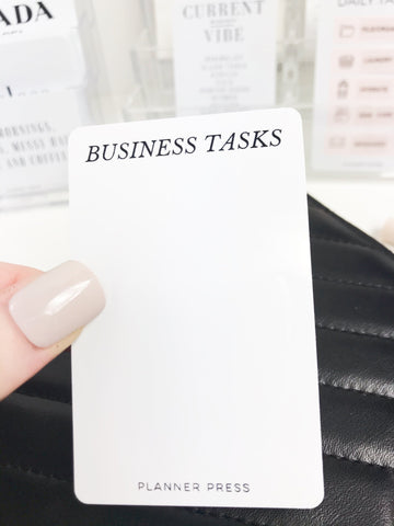 Business Task Routine Task Card Page Flag Pocket Card - Planner Press