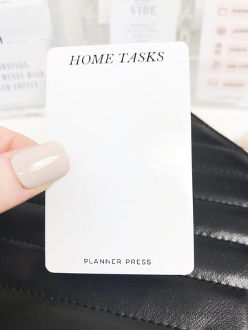 Home Task Routine Task Card Page Flag Pocket Card - Planner Press
