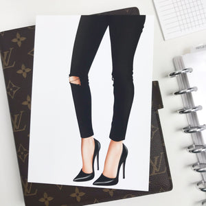 Chic Legs Planner Dashboards For TN's and Travelers Notebook Ringbound Planner V351