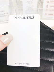 AM Routine Task Card Page Flag Pocket Card - Planner Press