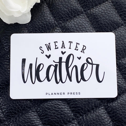Sweater Weather Pocket Card