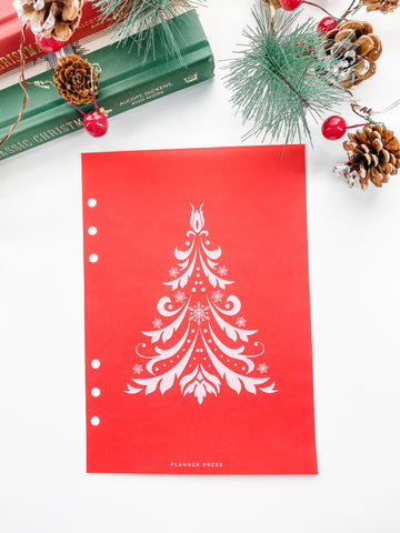 Christmas Tree Dashboards For TN's and Travelers Notebook Ringbound Planner V389