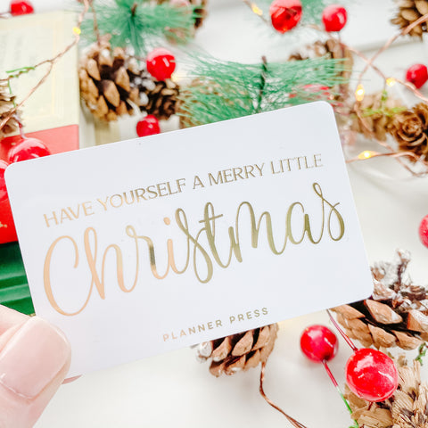 Have Yourself A Merry Christmas Gold Foil Pocket Card