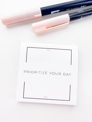 Prioritize Your Day Am & PM Sections Sticky Note