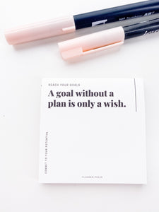 Goals and Plans Sticky Note