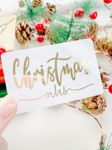 Christmas Vibes Gold Foil Pocket Card
