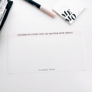 Celebrate Every Win Side Vellum for the Planner Press Legacy Planner V418