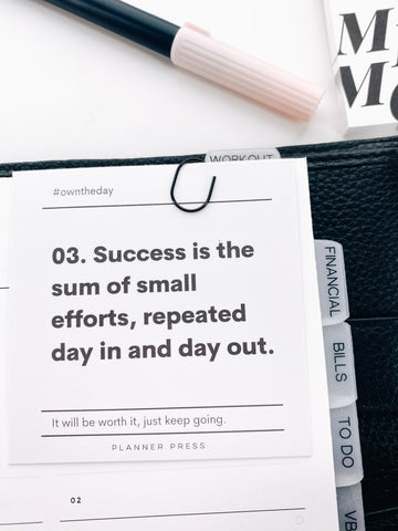 Success Is The Sum #OWNTHEDAY  3x3 Card