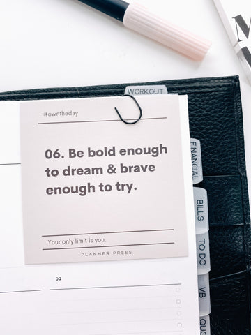 Be Bold Enough To Dream 3x3 Card