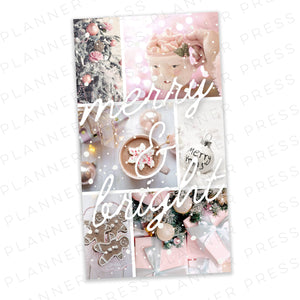 Half Letter Pink Winter Wonderland Christmas Digital Dashboard Download