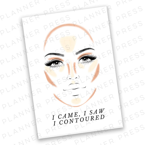 A5 Ringbound Makeup Glam Planner Digital Dashboard Download