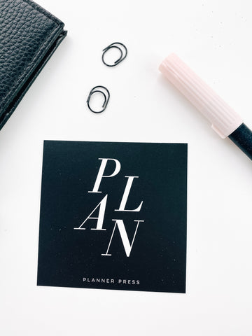 Plan Black and White 3x3 Card