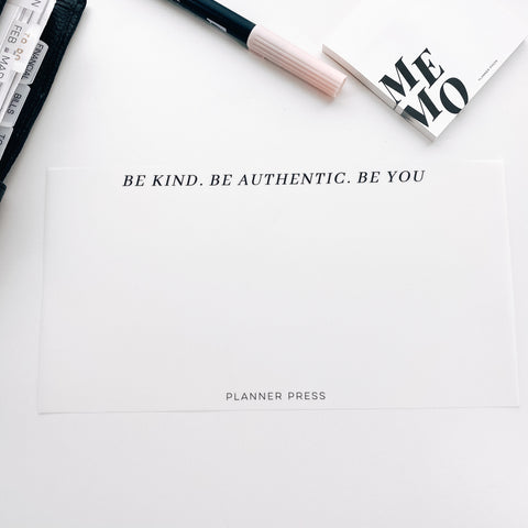 Be Kind Be Authentic Be You Side Vellum for the Planner Press Legacy Planner V426