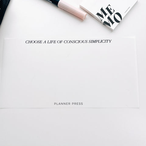 Conscious Simplicity Side Vellum for the Planner Press Legacy Planner V424