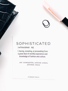 Sophisticated Definition 3x3 Card