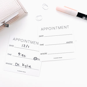 Appointment 3x3 Card System