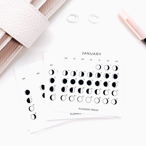 2021 Monthly Lunar Calendar 3x3 Card Set of 12