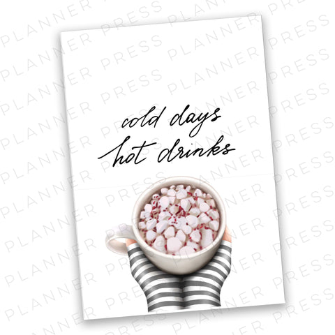 A5 Ringbound Hot Cocoa Planner Digital Dashboard Download